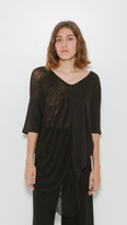 Raquel Allegra Side Shred Tee