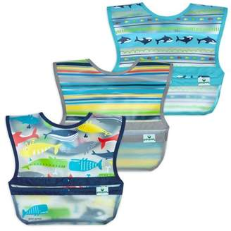 green sprouts Snap & Go Wipe-off Bibs 3pk
