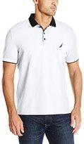 Nautica Men's Slim Fit Layered Collar Polo Shirt