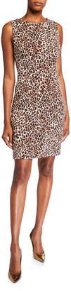 T Tahari Printed Sleeveless Sheath Dress