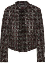 Isabel Marant Fania Cropped Wool-blend Tweed Jacket - Burgundy