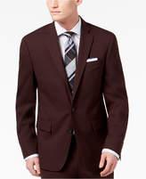 Ryan Seacrest Distinction Men's Slim-Fit Stretch Burgundy Solid Suit Jacket, Created for Macy's