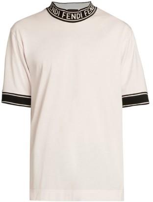 Fendi Logo Tape Collar T-Shirt