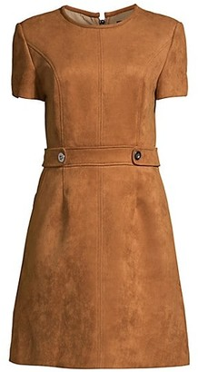 Toccin Faux Suede Short-Sleeve Dress