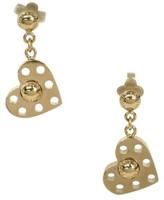 Louis Vuitton Gold Plated Heart Earrings