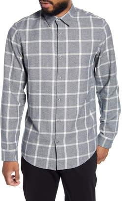 Calibrate Slim Fit Plaid Knit Button-Up Shirt