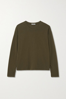 James Perse Vintage Cotton-jersey T-shirt - Green