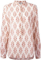 Forte Forte printed front placket blouse