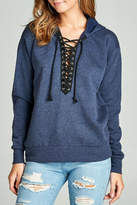 Minx Blue Laceup Sweater