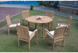 Sabrina Rosecliff Heights 7 Piece Teak Dining Set Rosecliff Heights