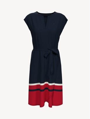 Tommy Hilfiger Essential Border Stripe Wrap Dress