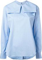 Comme des Garcons square collar blouse - women - Cotton - M