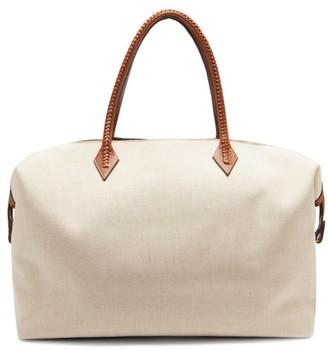 BEIGE Métier London Metier London - Perriand Large Linen-canvas Weekend Bag - Womens Multi
