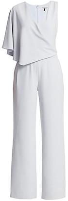 Halston Asymmetrical Cape Jumpsuit