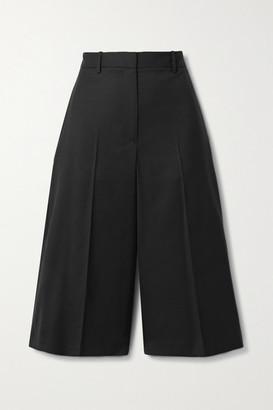 Nili Lotan Ilford Wool-blend Twill Culottes - Black