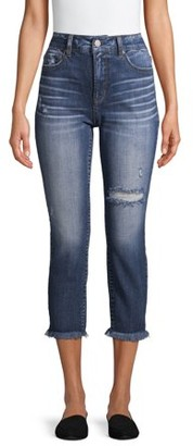 Time and Tru Women's Vintage High Rise Denim Capris