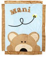 Boogie Baby Plush Peek-A-Boo Bear Blanket, Blue/Brown
