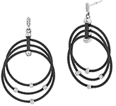 Alor Black Cable Drop Earrings