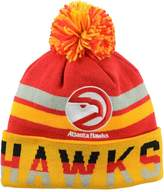 Mitchell & Ness Atlanta Hawks NBA Trifecta Cuffed Pom Knit Beanie Cap