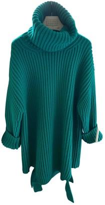 Balenciaga Green Cotton Knitwear