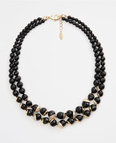 Ann Taylor Double Layer Faceted Bead Necklace