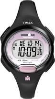 Timex Women's T5K522GP Ironman Traditional 10-Lap Black Resin Strap Watch
