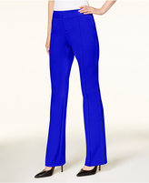 INC International Concepts Curvy Faux-Leather-Trim Pants, Created for Macy's
