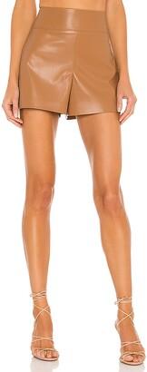 Alice + Olivia Donald Vegan Leather Short