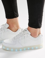 Wize & Ope White Light Up Sole Sneakers