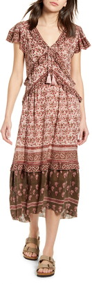 Faherty Bonita Floral Block Print Midi Dress