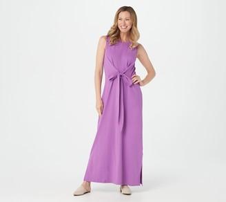 Denim & Co. Jersey Round-Neck Sleeveless Maxi Dress