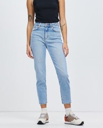 Neuw Women's Blue High-Waisted - Lola Mom Jeans - Size 24 at The Iconic