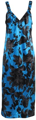 Dries Van Noten Blue And Black Floral Disto Dress