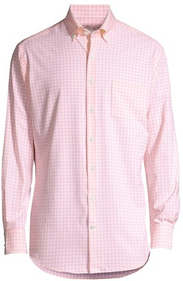 Peter Millar Regular-Fit Natural Touch Gingham Sport Shirt