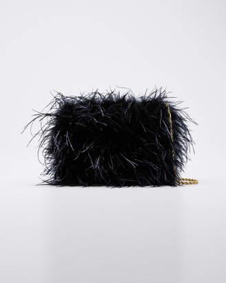 Loeffler Randall Zelda Ostrich Feather Clutch Bag