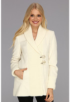 Vince Camuto Asymmetrical Toggle Knit Coat