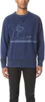 Rag & Bone Vacation Indigo Graphic Sweatshirt