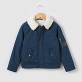 La Redoute Collections Bomber Jacket with Faux Fur Collar, 3-12Yrs