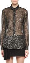 Saint Laurent Meteorite Silk-Polyester Shirt