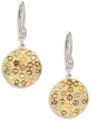 Meira T White Diamond, Rough Diamond, 14K Yellow Gold & 14K White Gold Drop Earrings