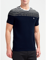 Original Penguin Short Sleeve Gradient Stripe T-shirt, Dark Sapphire