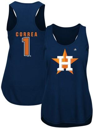 Majestic Women's Carlos Correa Navy Houston Astros Plus Size Player Tank Top