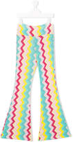 MC2 Saint Barth TEEN rainbow-print flared trousers