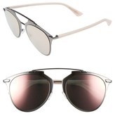 Christian Dior Women's Reflected 52Mm Brow Bar Sunglasses - Dark Ruthenium/ Pink