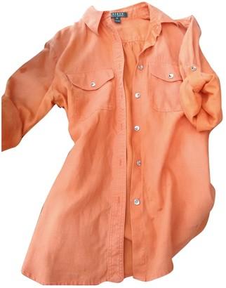 Lauren Ralph Lauren Orange Linen Top for Women