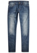 True Religion Tony Dark Blue Faded Skinny Jeans