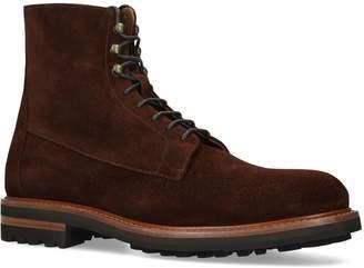 Brunello Cucinelli Suede Derby Boots