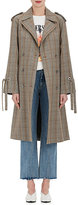 Andersson Bell Women's Glen Plaid Tie-Wrist Trench Coat