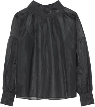 Rodebjer Kellman Organza Blouse - xs | black - Black/Black