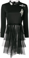 Frankie Morello space motif tulle dress